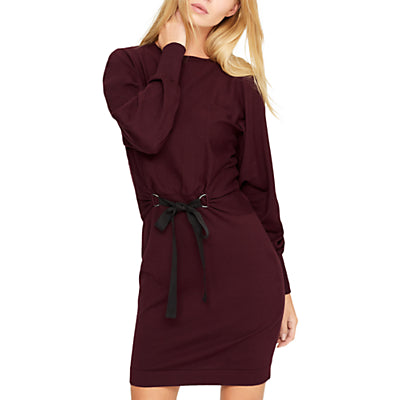 Damsel in a dress Tie Waist Tunic Dress- Port