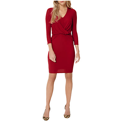 Damsel in a dress Twist Knot Jersey Dress- Red