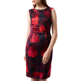 Fenn Wright Manson Silk Rich Poppy Print Dress- Red