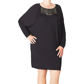 ADIA Long Sleeve Tunic Dress- Black