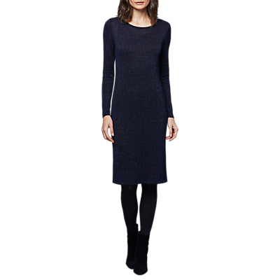 East Long Sleeve Knitted Dress- Indigo