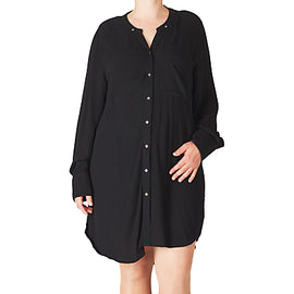 ADIA Oversized Shirt Dress- Black