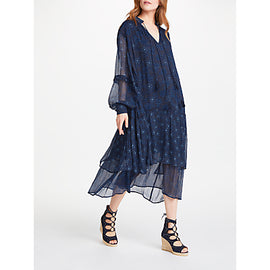 AND/OR Joanie Print Dress- Indigo