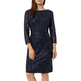 Fenn Wright Manson Petite Elaoise Dress- Navy