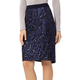 Fenn Wright Manson Zara Sequin Skirt- Navy