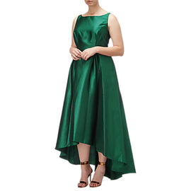Adrianna Papell Arcadia High-Low Hem Ball Gown- Dark Forest