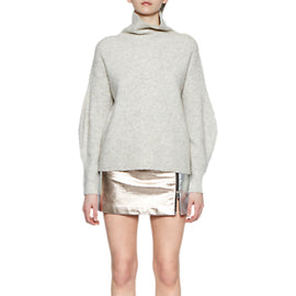 French Connection Audrey Mini Skirt- Silver/Rose Gold