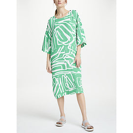 Kin by John Lewis Laura Slater Limited Edition Regulated Print Dress- Green