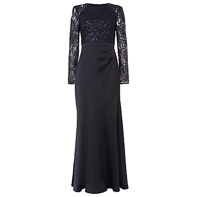 Phase Eight Collection 8 Monique Sequin Maxi Dress- Midnight