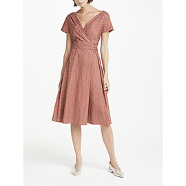Weekend MaxMara Eye Print Wrap Dress- Brown