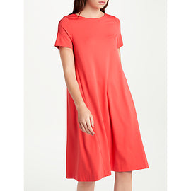 Winser London Short Sleeved A Line Dress- Soft Mandarin