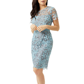 Fenn Wright Manson Petite Wren Dress- Blue/Silver