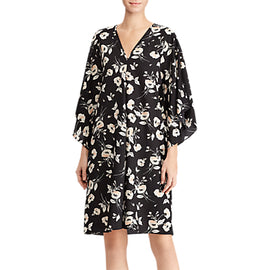 Lauren Ralph Lauren Braedyn Shift Dress- Black/Peach