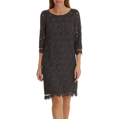 Betty & Co. Lace Shift Dress- Night Silver