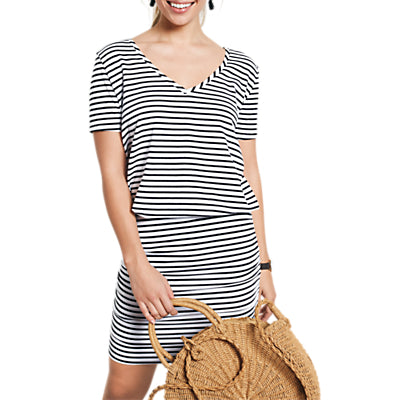 hush Tara Striped V-Neck Dress