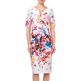 Adrianna Papell Petite Spring Bloom Dress- Ivory/Multi