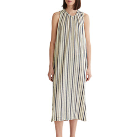 Toast Crepe Stripe Dress- Slate/Denim Blue