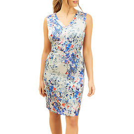 Fenn Wright Manson Petite Briar Dress- Blue/Multi