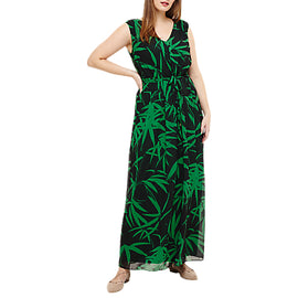 Studio 8 Lana Palm Print Maxi Dress- Green