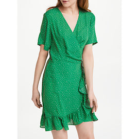 Just Female Renata Wrap Dress- Green
