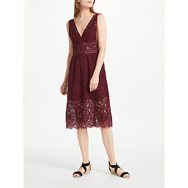 Y.A.S Bibba Dress- Burgundy