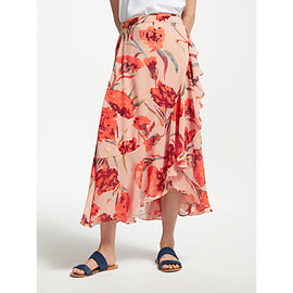 Y.A.S Cacco Floral Wrap Skirt- Orange/Multi