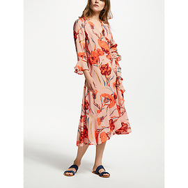 Y.A.S Cacco Floral Print Wrap Dress- Multi