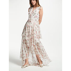 Y.A.S Loriette Most Maxi Floral Dress- White/Multi