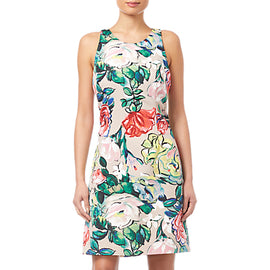 Adrianna Papell Floral Printed Dress- Multi