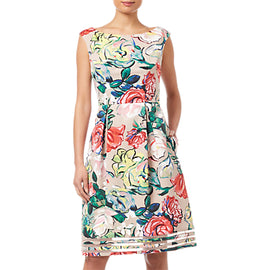 Adrianna Papell Stained Glass Dress- Multi