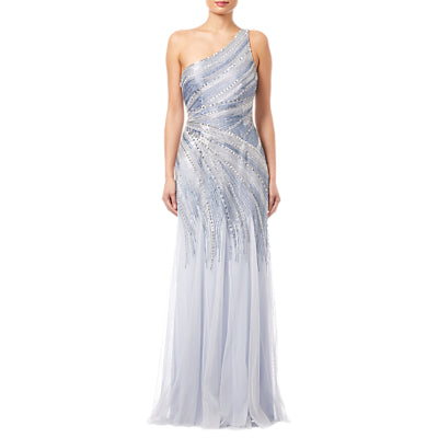 Adrianna Papell Beaded Mermaid Gown- Serenity