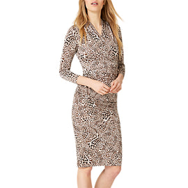Damsel in a Dress Kacey Leopard Print Dress- Brown Leopard