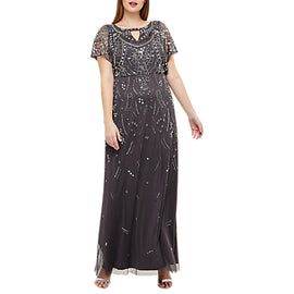 Studio 8 Desiree Beaded Maxi Dress- Grey