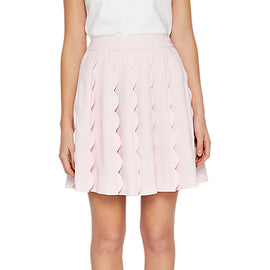 Ted Baker Poppay Scallop Detail Mini Skirt- Baby Pink