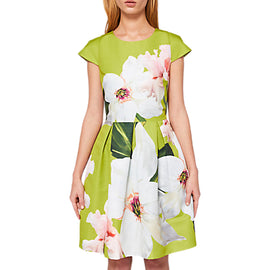Ted Baker Lynetta Chatsworth Bloom Dress- Light Green