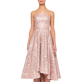 Ted Baker Lucie Jacquard Drop Hem Dress- Pink