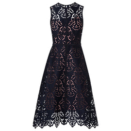 L.K.Bennett Marie Sleeveless Lace Dress- Sloane Blue