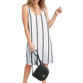 hush Dakota Striped Dress- White/Black