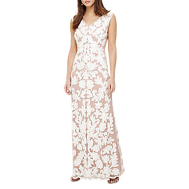 Phase Eight Collection 8 Yvie Tapework Maxi Dress- White