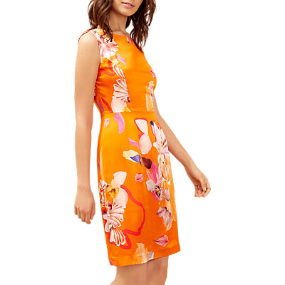 Fenn Wright Manson Tropical Print Silk Dress- Orange/Multi
