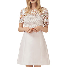French Connection Consenza Bridal Dress- Summer White