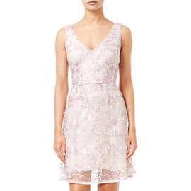 Adrianna Papell A-line Short Dress- Pink