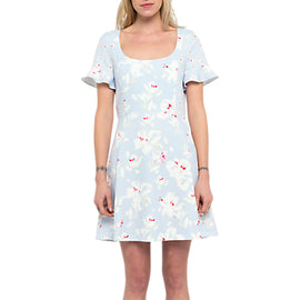 French Connection Alba Scoop Neck Dress- Sea Breeze