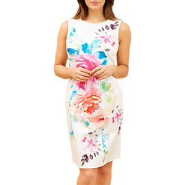 Fenn Wright Manson Petite Damask Dress- Multi