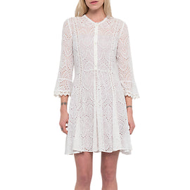 French Connection Derna Broderie Draped Dress