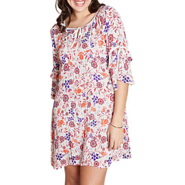 Yumi Curves Swirled Tunic Dress- Ivory