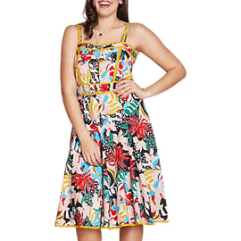 Yumi Curves Jungle Floral Dress- Multi
