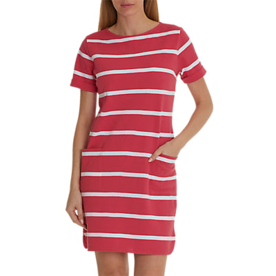 Betty & Co. Textured Stripe Dress- Pink/White