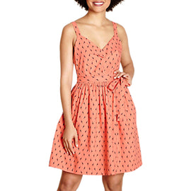 Yumi Giraffe Print Sundress- Orange