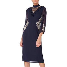 Raishma Embellished Frill Cocktail Dress